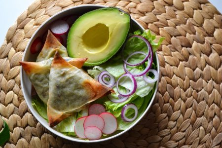 Triangles aux légumes