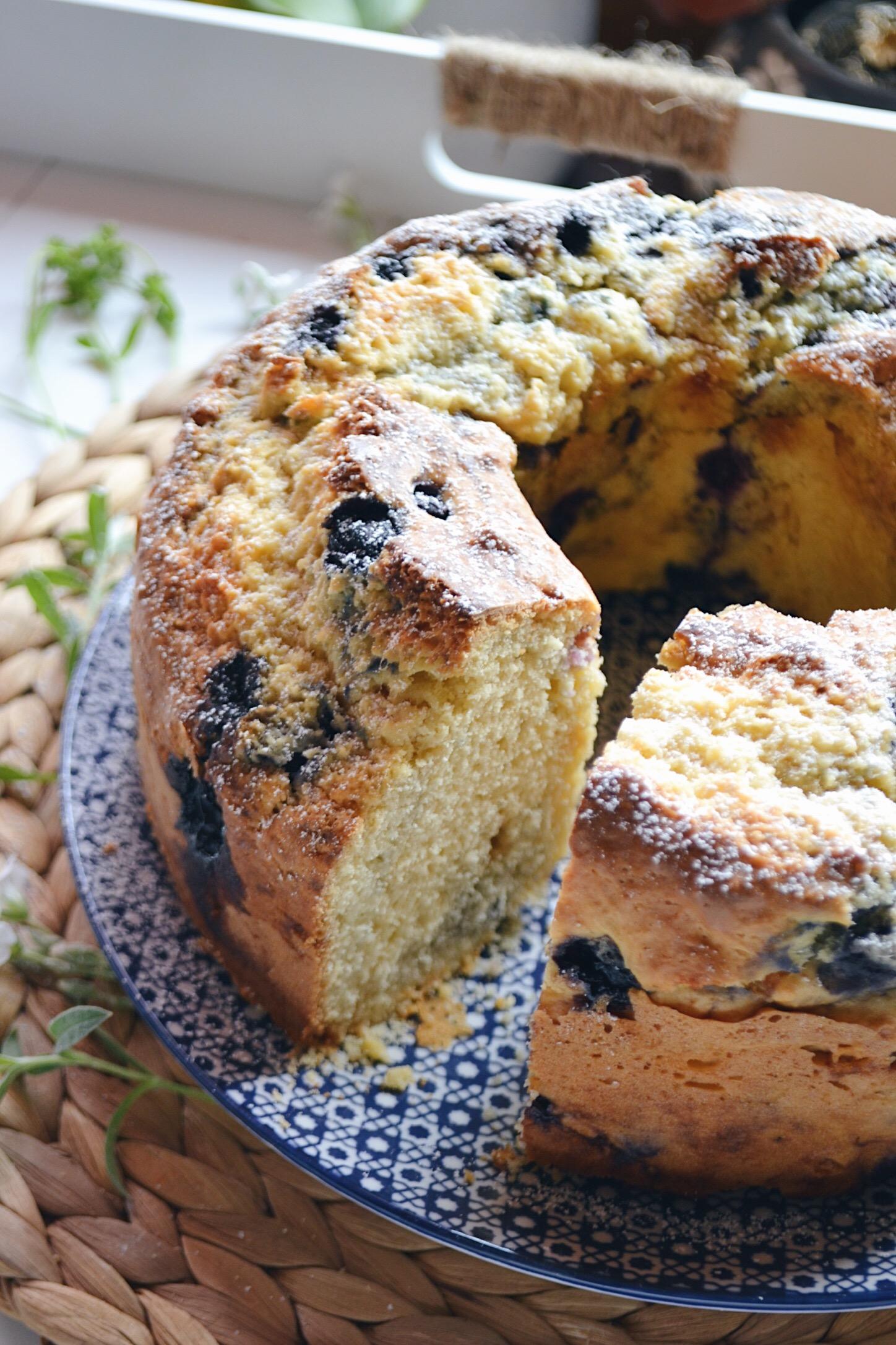 bundt cake aux myrtilles