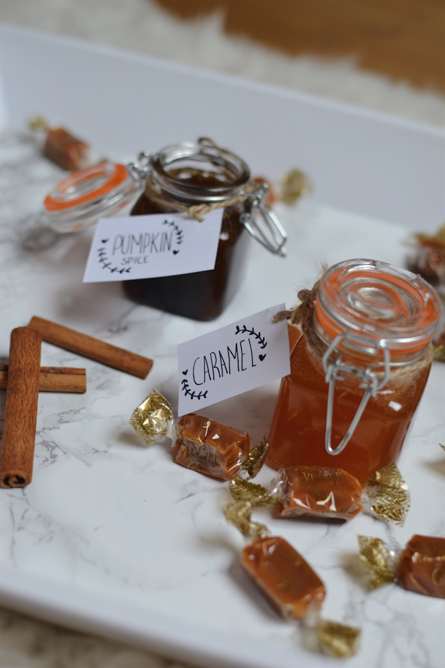 Sirop caramel et pumpkin