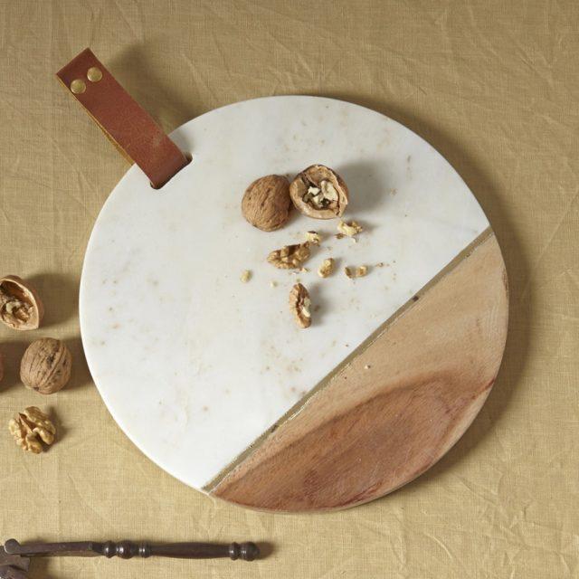 Planche bois + marbre 35€