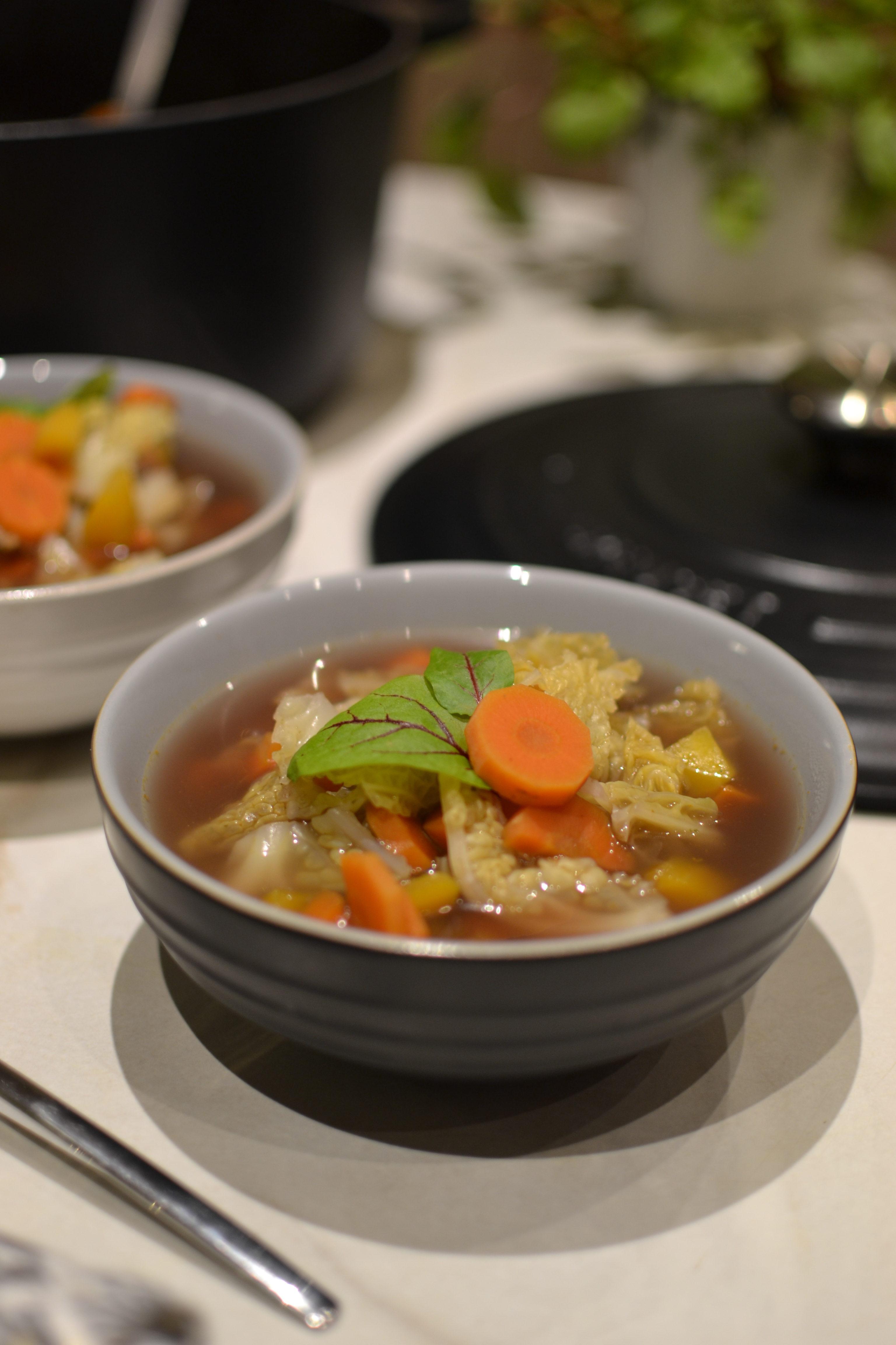 Bouillon chou vert et carottes