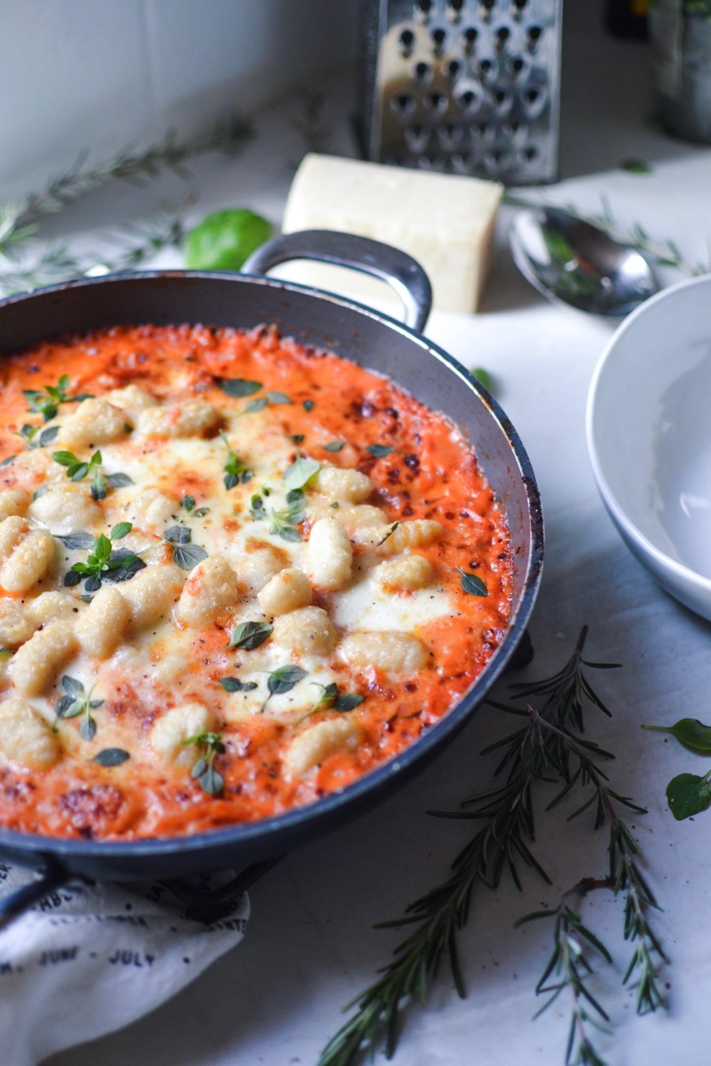 Gnocchi sauce tomate et mascarpone , gratiné au four ! Sans gluten