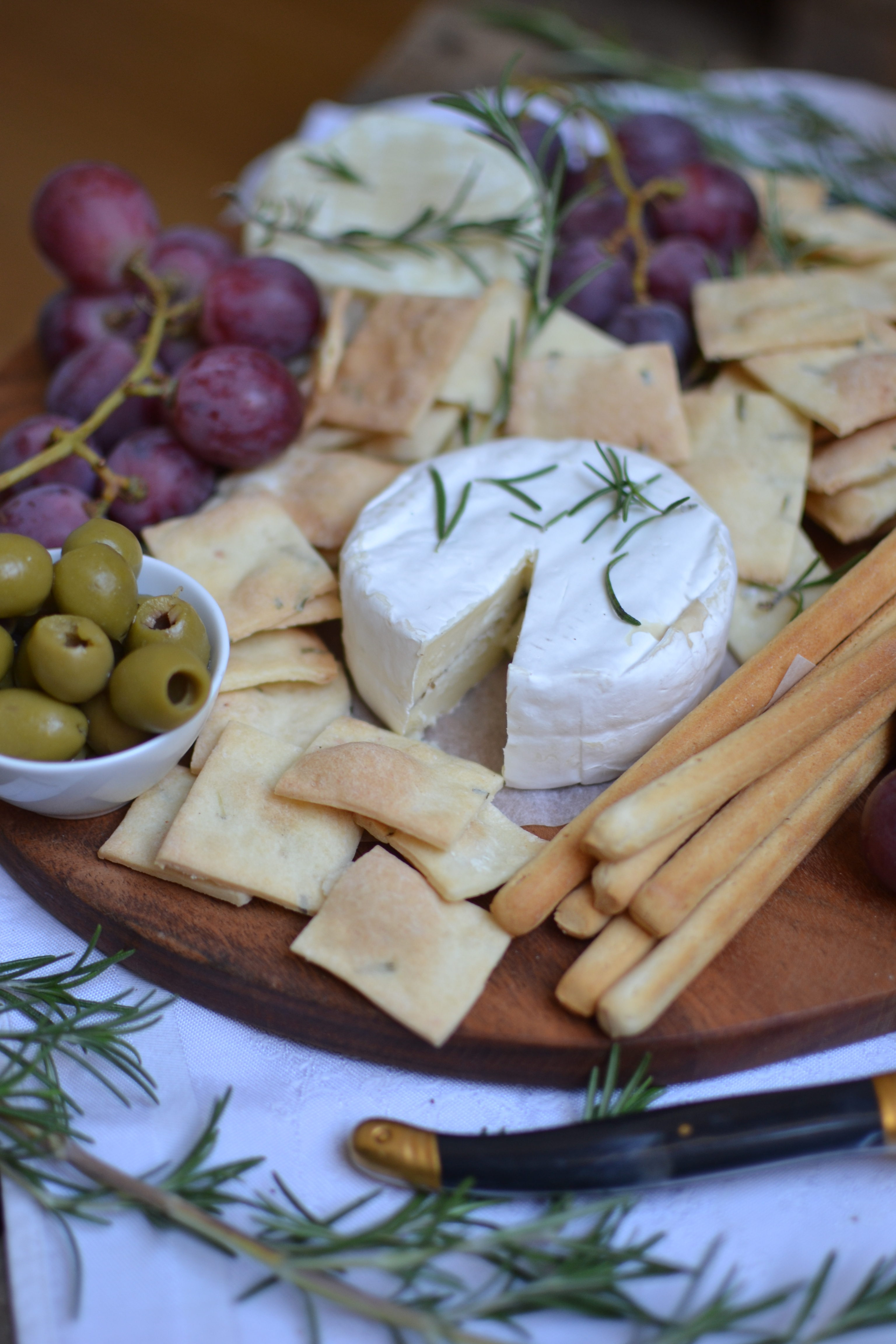 Apéro sans gluten, crackers au sel-romarin