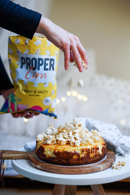 Cheesecake allégé spéculoos et popcorn