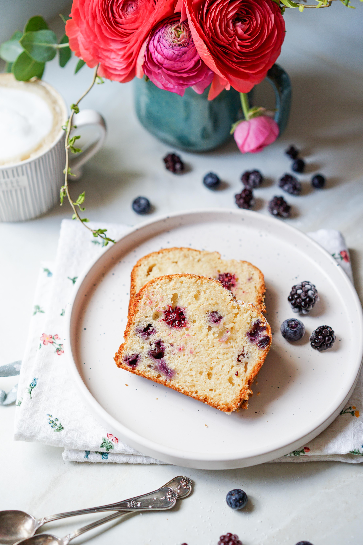cake myrtilles poudre d'amandes