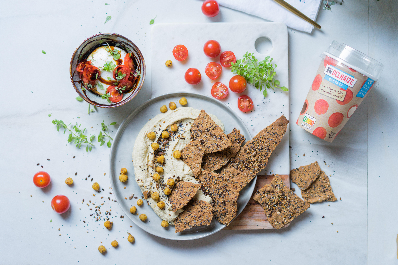 Crackers aux graines et houmous