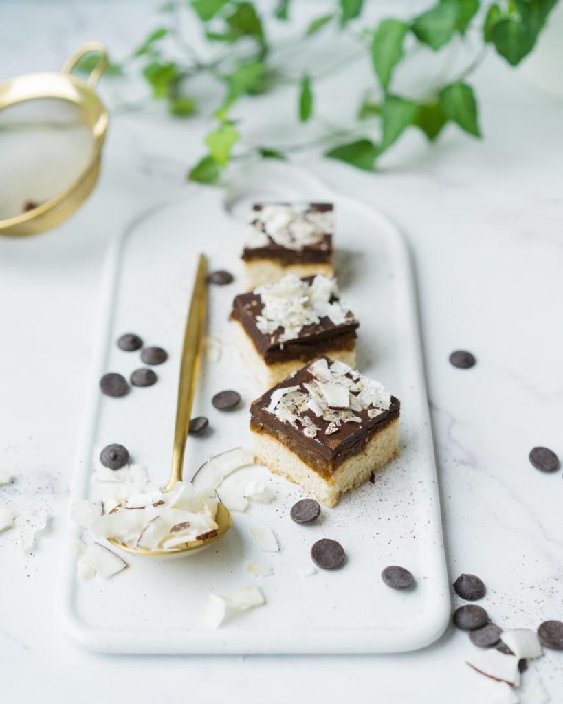 Barres noix de coco et chocolat noir