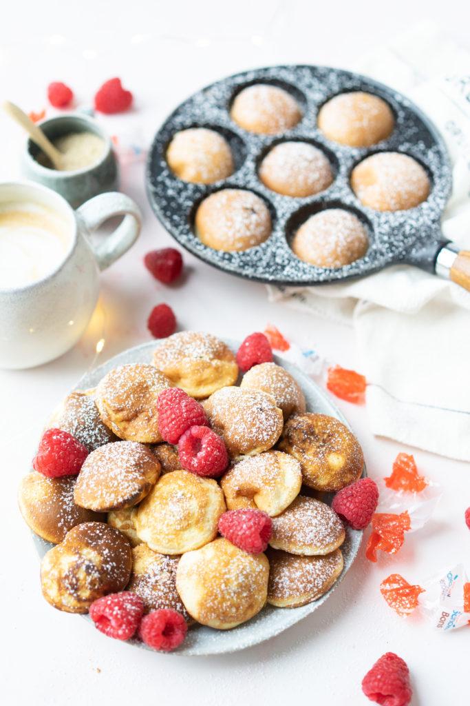 Minis pancakes fourrés de chocolat