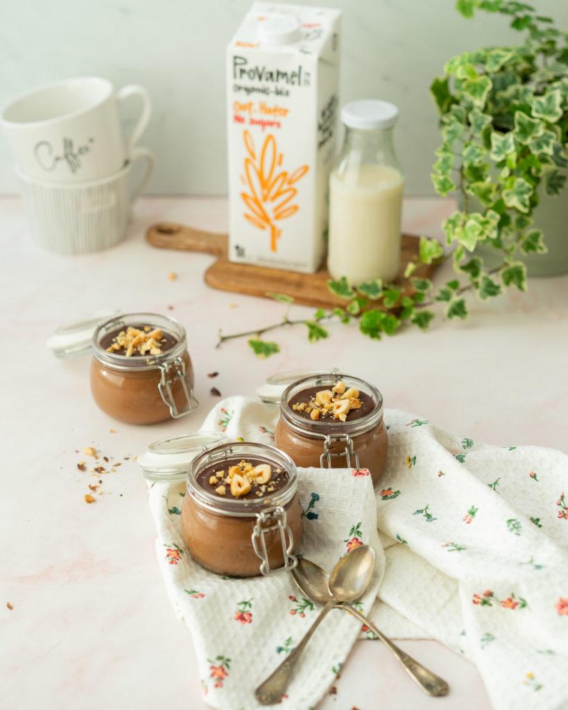 Crème chocolat-noisettes sans lactose