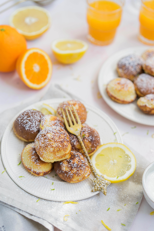 Minis pancakes ricotta-citron