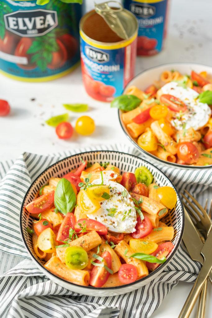 Rigatoni sauce tomate mascarpone et burrata