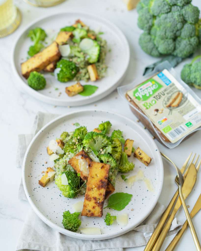 Sarrasin au pesto de brocoli et tofu noisette