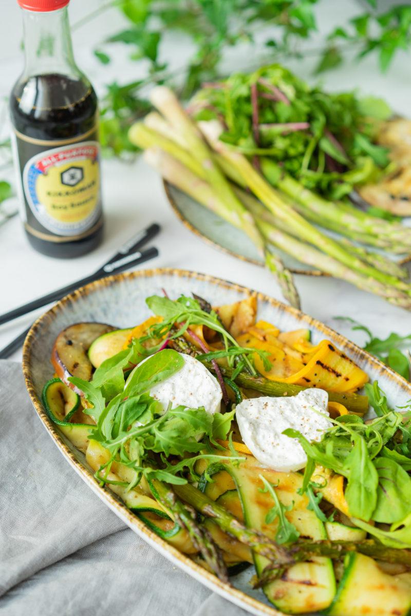 Légumes grillés sauce soja