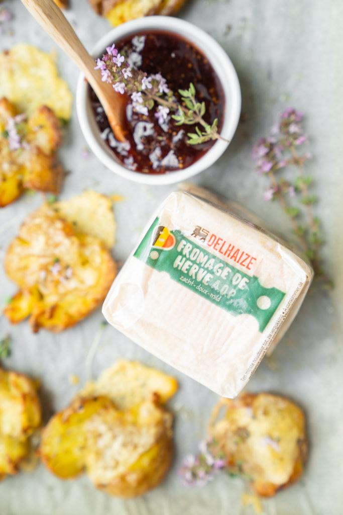 Pommes de terre écrasées au fromage Belge