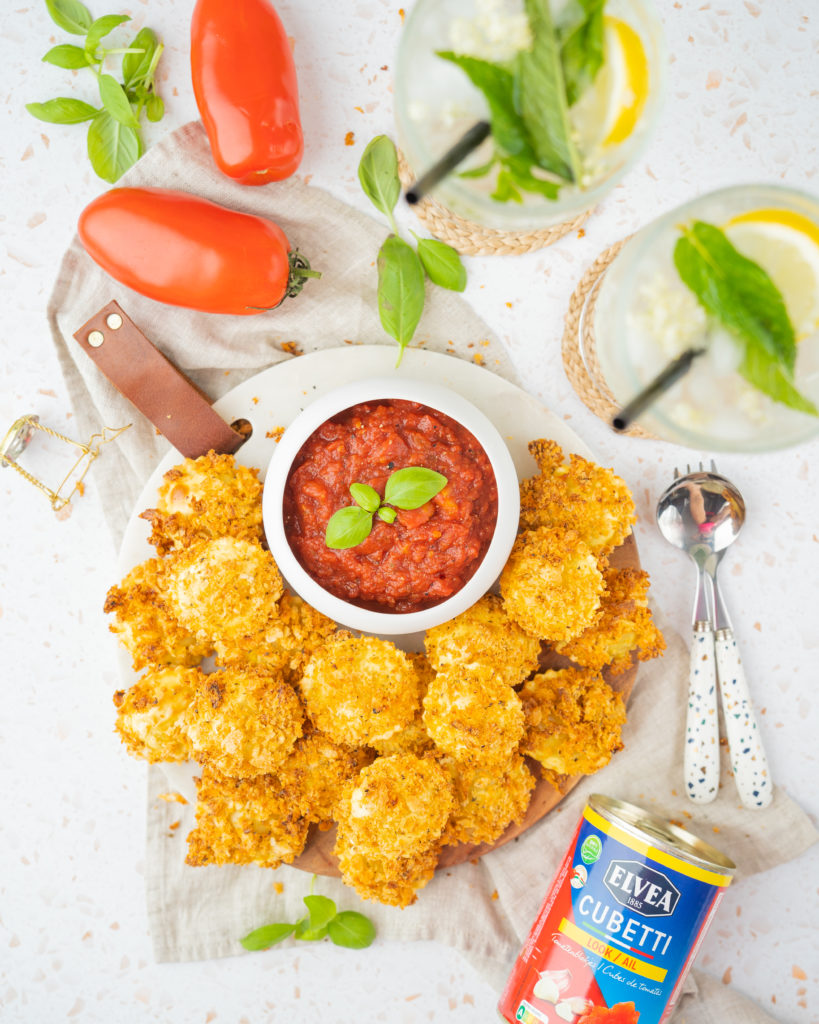 Girasoli croustillants et sauce tomate épicée